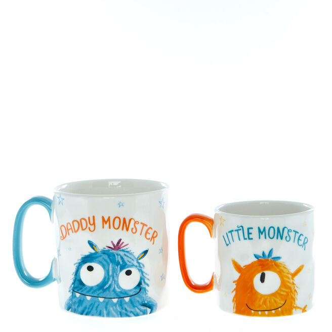 Little Monsters Daddy & Me Mugs - Set Of 2