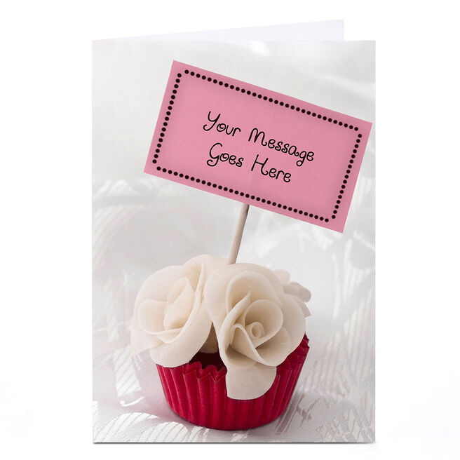 Personalised Card - Cupcake Sign