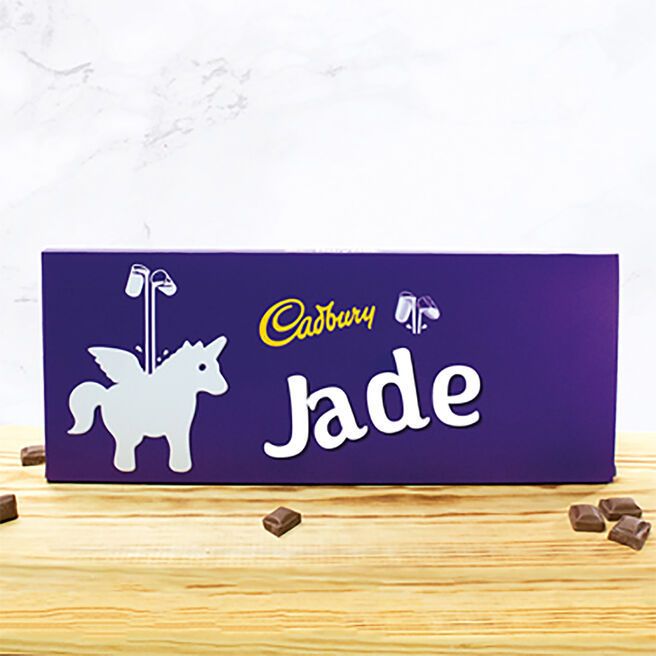 Personalised 850g Cadbury Dairy Milk Bar - Unicorn