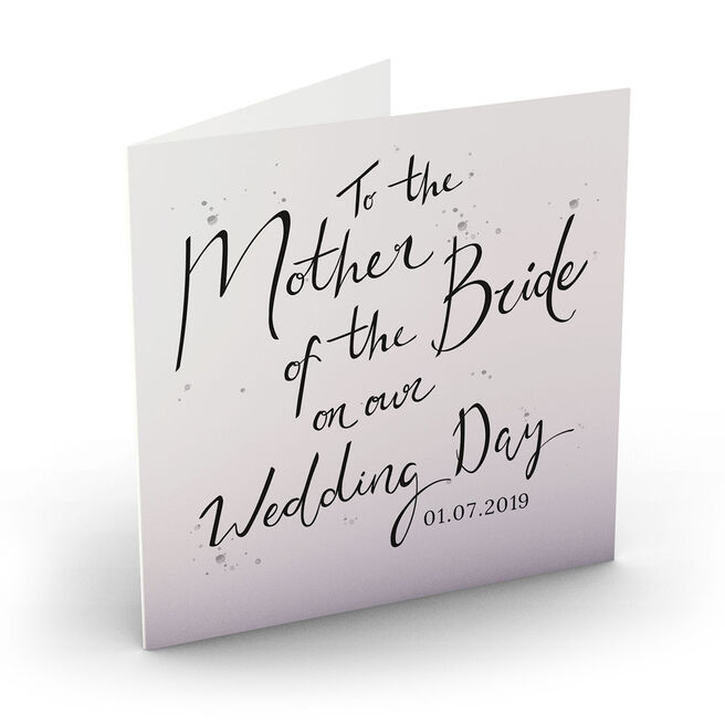 Personalised Wedding Card - Mother Of The Bride