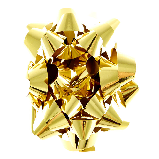 Giant Gold Foil Gift Bow