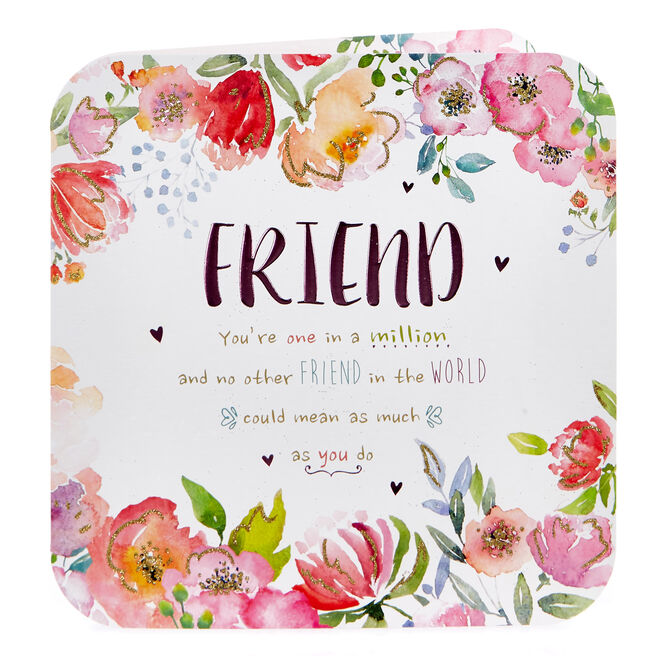 Platinum Collection Birthday Card - Friend, One In A Million
