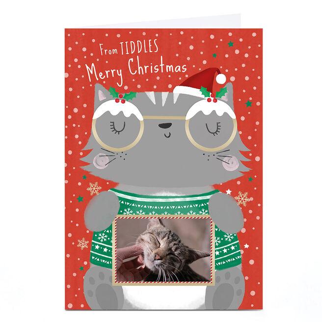 Photo Christmas Card - From The Cat Cartoon