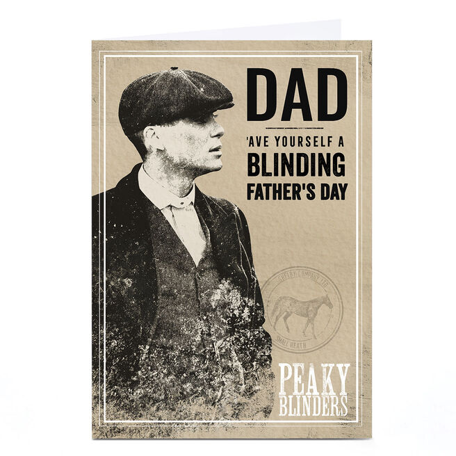 Personalised Peaky Blinders Father's Day Card - Dad, Blinding