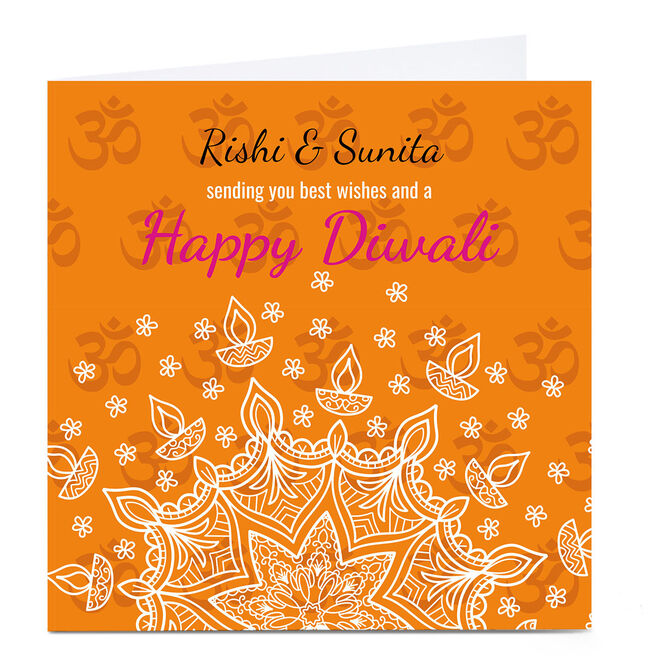 Personalised Roshah Designs Diwali Card - Best Wishes