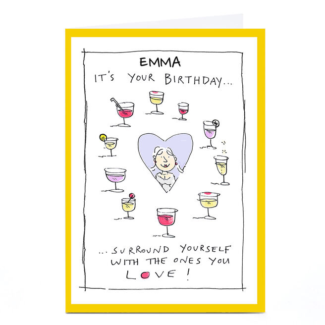 Personalised Vicar Of Scribbly Card - Surround Yourself With The Ones You Love
