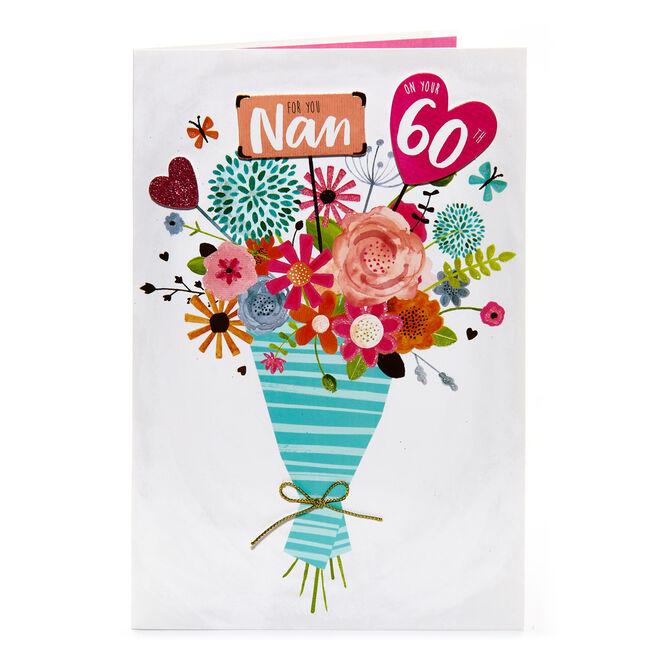 60th Birthday Card - For You Nan