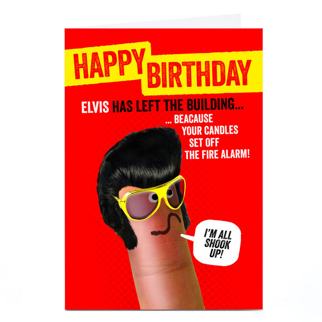 Personalised Finger Quips Birthday Card - I'm All Shook Up