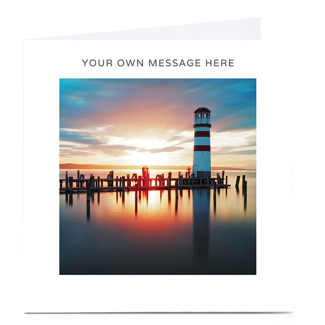 Personalised Card - Sunset Lighthouse