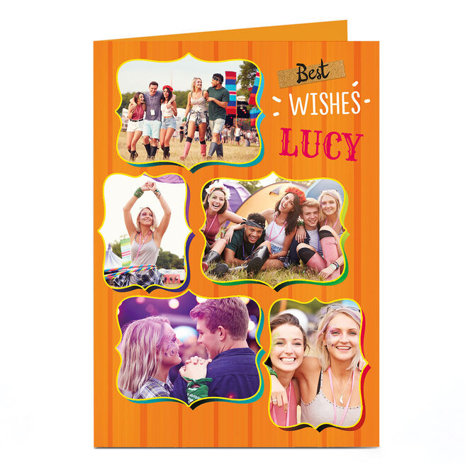 Photo Card - Orange Best Wishes