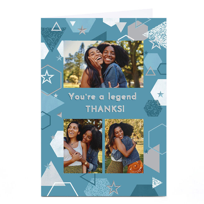 Photo Thank You Card - You're A Legend