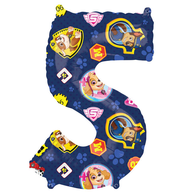 Paw Patrol Number 5 34-Inch Foil Helium Balloon