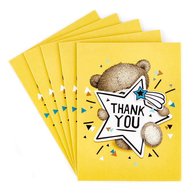 Hugs Bear Thank You Cards - Pack of 12