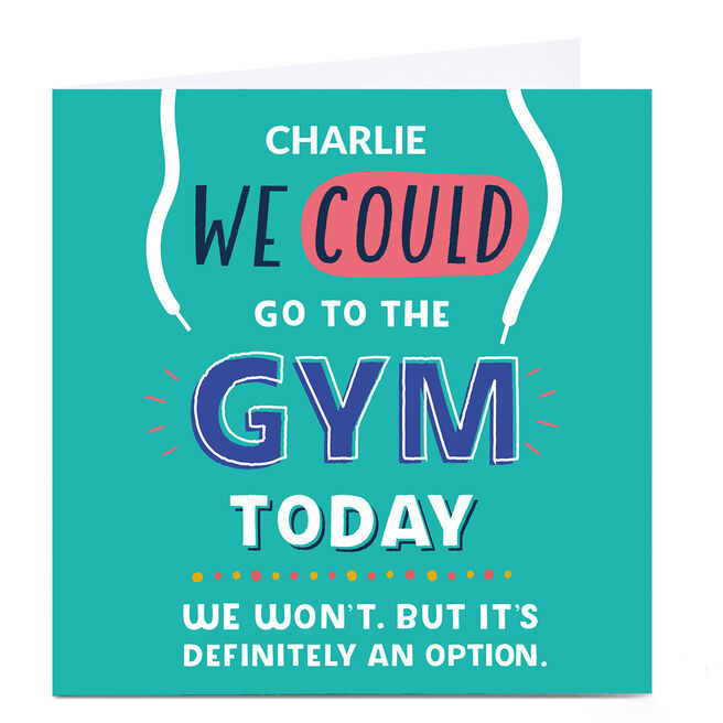 Personalised Larger than Life Card - Gym Today