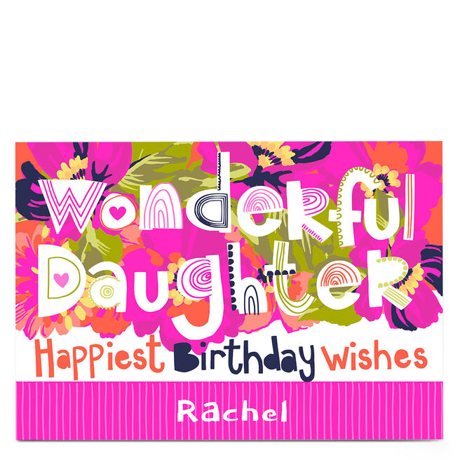Personalised Bev Hopwood Birthday Card - Wonderful Daughter