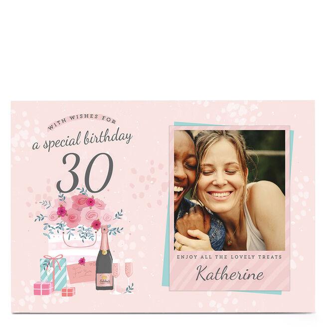 Photo 30th Birthday Card - Lovely Treats