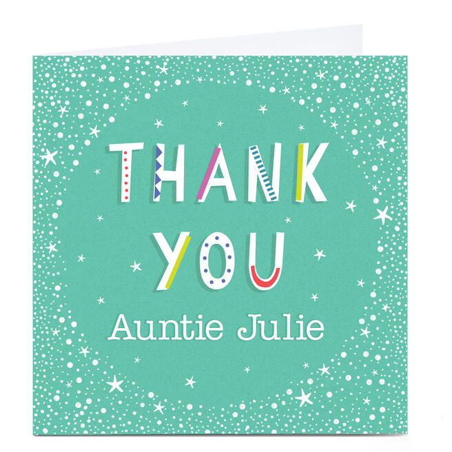 Personalised Thank You Card - Stars & Dots