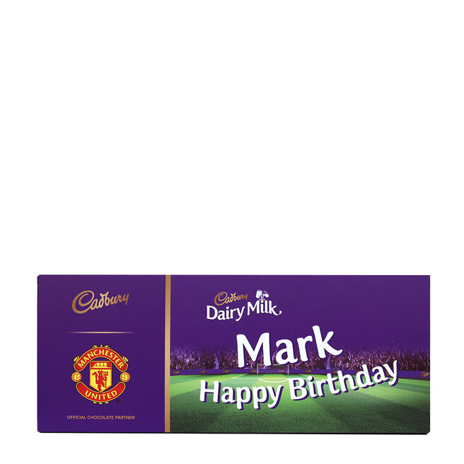 850g Personalised Manchester United Cadbury Dairy Milk Bar