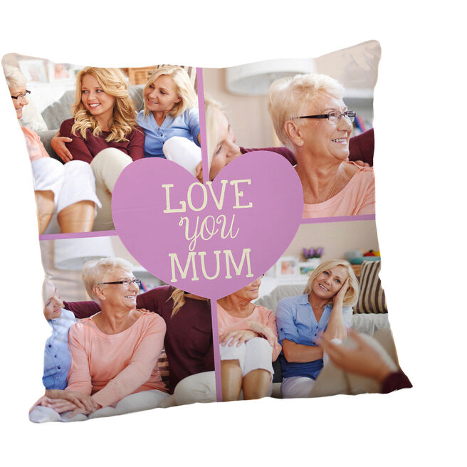 Personalised Mother's Day Cushion - Love You Multi-Photo