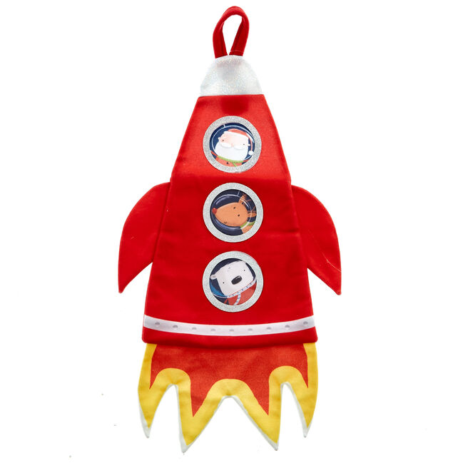 Space Rocket Christmas Stocking