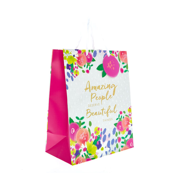 Medium Portrait Gift Bag - Beautiful Things
