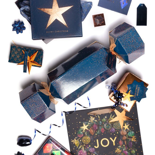 Navy & Copper Christmas Gift Wrap Range