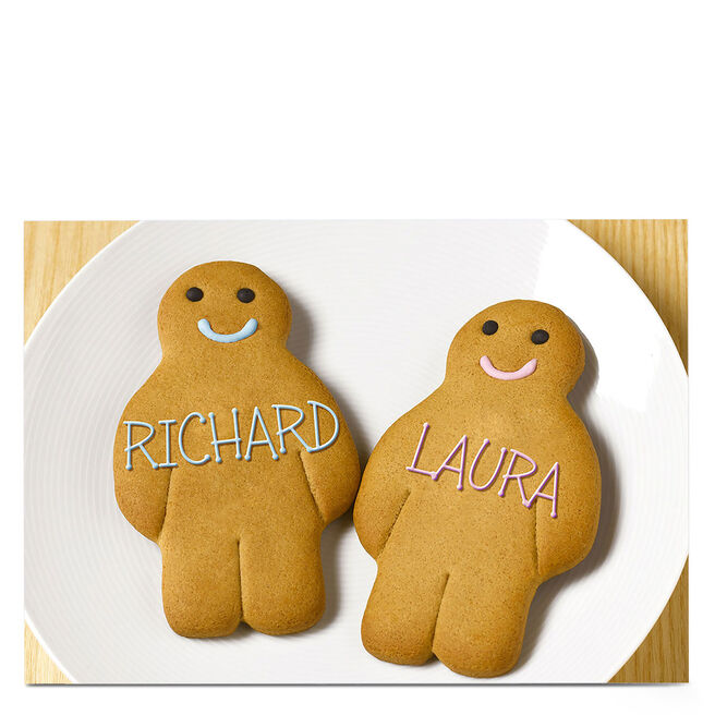 Personalised Card - Gingerbread Men