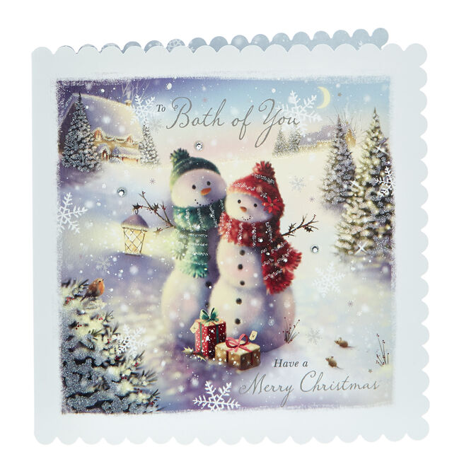 Exquisite Collection Christmas Card - Both Of You Snowmen
