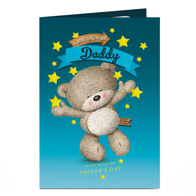 Personalised Hugs Bear Card - Bear With Stars