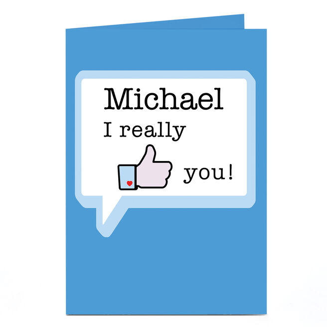 Personalised Card - I Really Like You