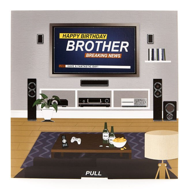 Exquisite Collection Birthday Card - Brother, TV