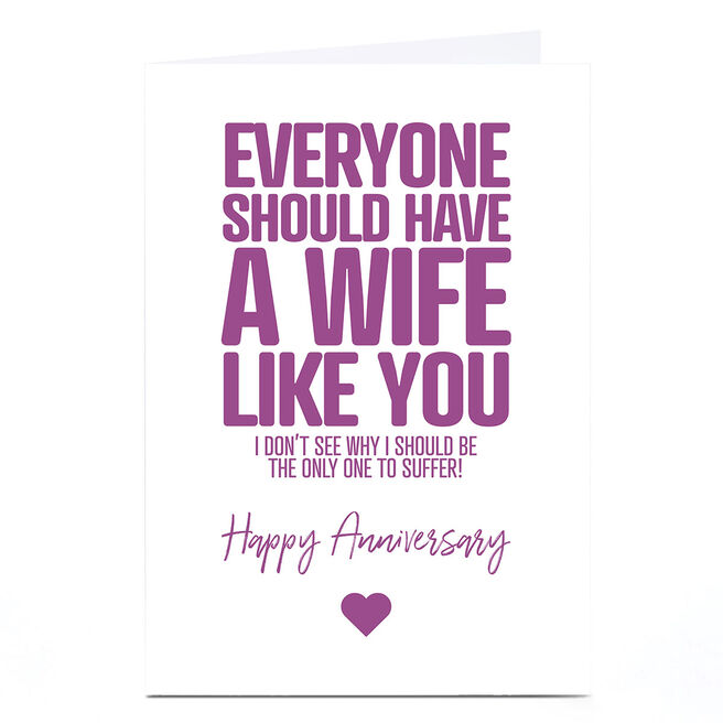 Personalised Punk Cards Anniversary Card - Wife Like You