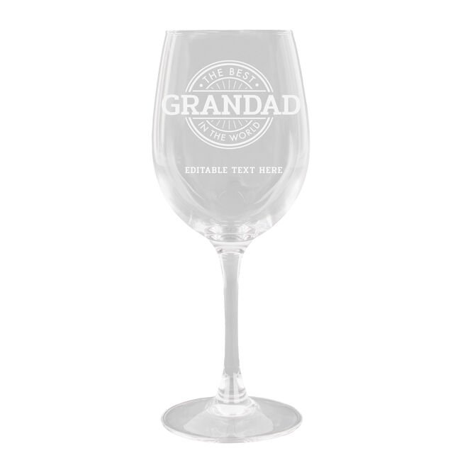 Personalised Wine Glass - The Best In The World