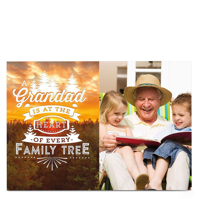 Photo Card - Grandad, Family Tree