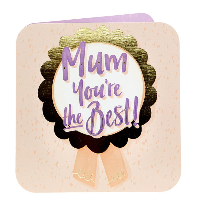Charity Mother's Day Card - Mum You're The Best