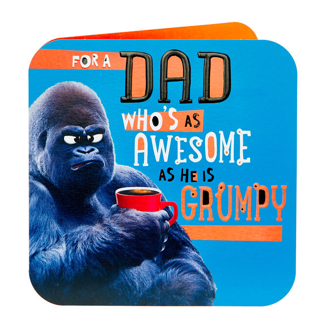 Father's Day Card - Dad, Awesome & Grumpy