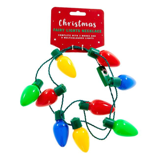Light-Up Christmas Fairy Lights Necklace