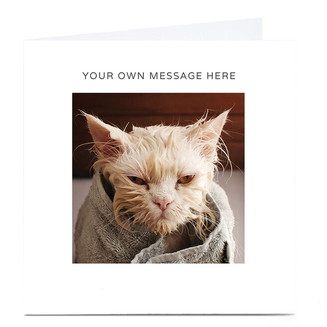 Personalised Card - Wet Cat