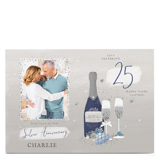 Photo 25th Anniversary Card - Happy Years Together