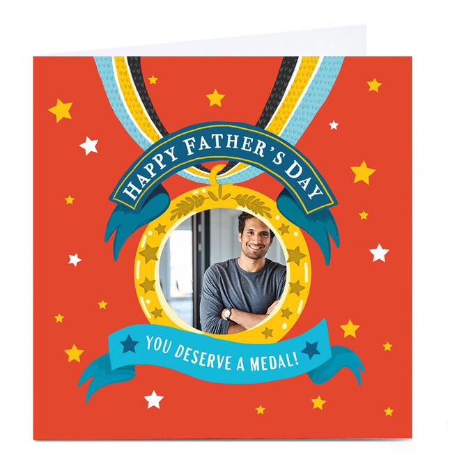 Photo Carol Richardson Father's Day Card - Medal