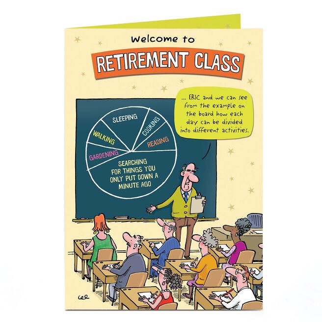 Personalised Retirement Card - Retirement Class