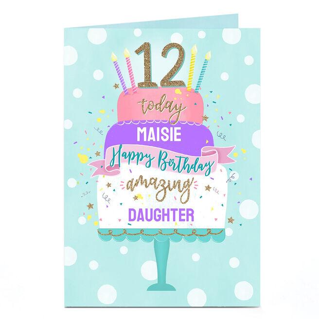 Personalised Birthday Card - Pastel Cake