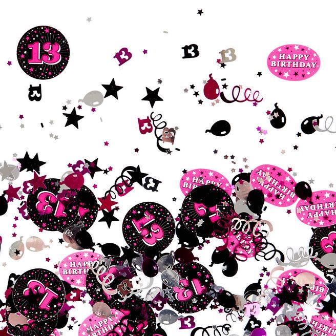 13th Birthday Pink Foiletti - Pack Of Three