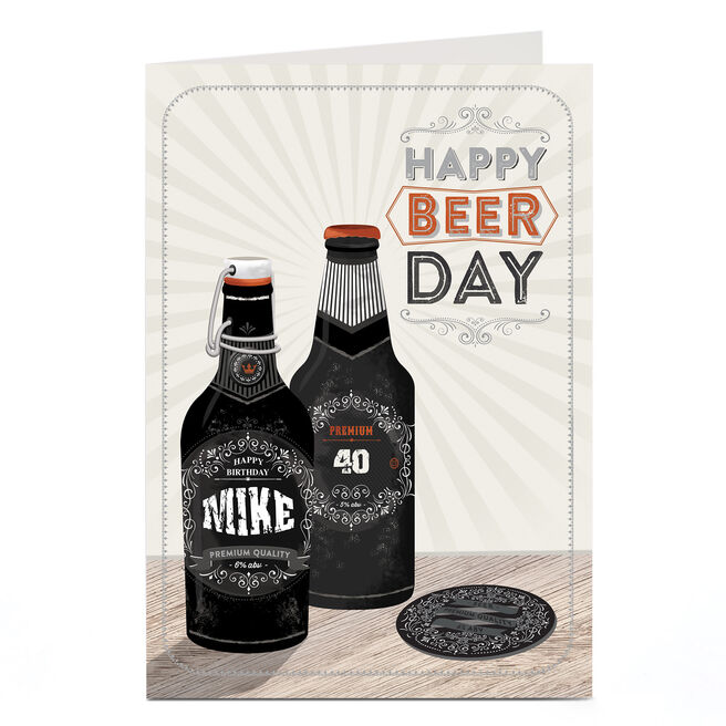 Personalised Birthday Card - Happy Beer Day