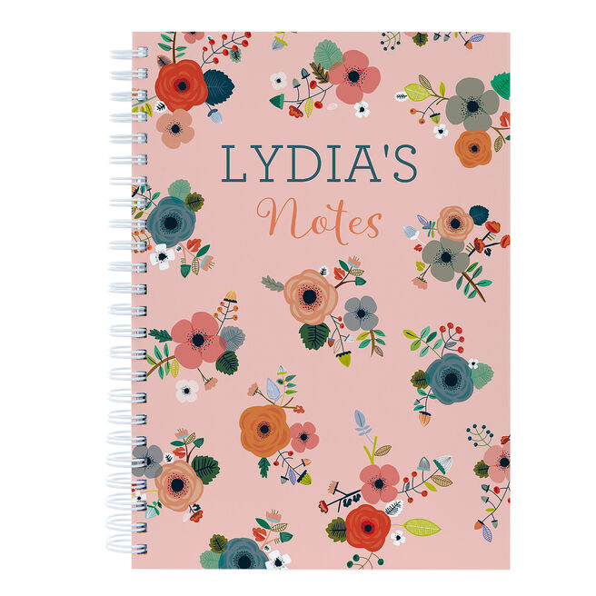 Personalised Notebook - Bouquets