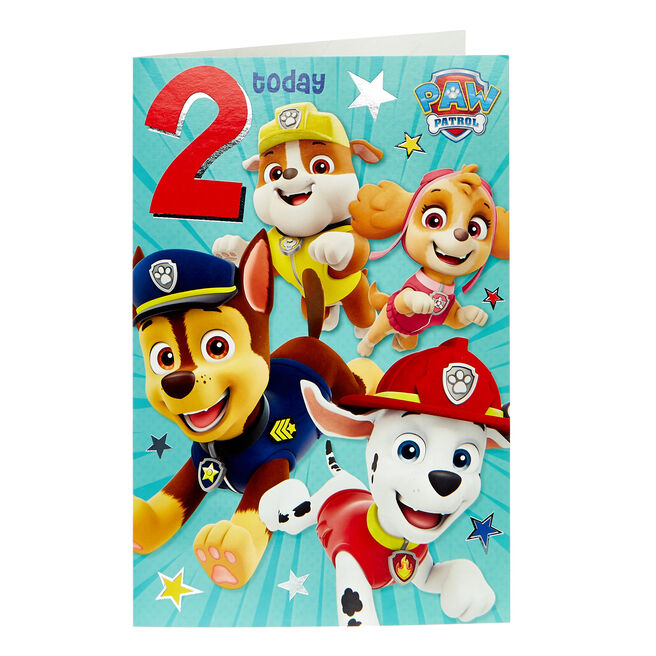 Paw Patrol 2nd Birthday Card