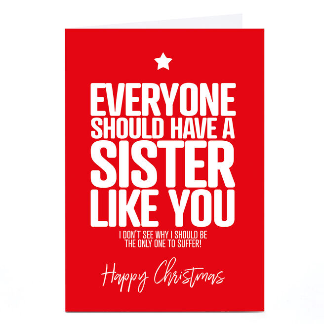 Personalised Punk Cards Christmas Card - Sister like You