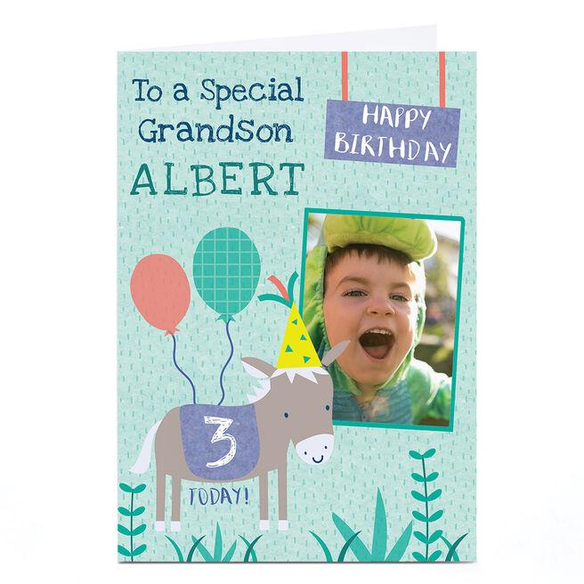 Photo Juniper & Rose Birthday Card - Donkey