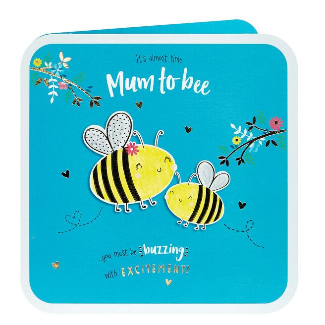 Congratulations Card - Mum To Bee
