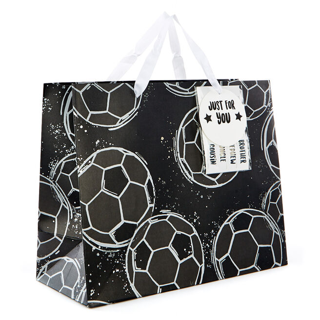 Medium Landscape Gift Bag - Football, Just For You